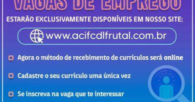 ACIF/CDL Receberá apenas currículo online
