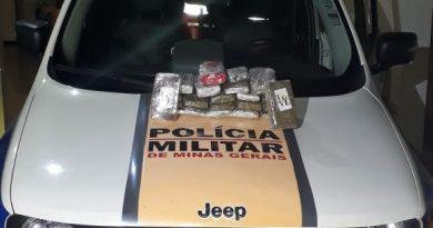PMR encontra 6,2kg de drogas em carro na MGC-497