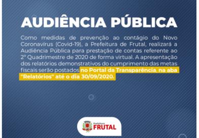 Prefeitura realiza audiência pública no dia 30