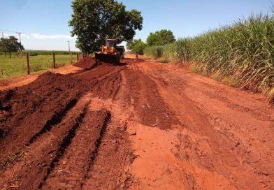 Estradas rurais passam por reparos