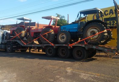 PM de Fronteira recupera tratores roubados em Taquaritinga e prende motorista de caminhão